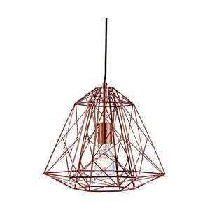 Stropní svítidlo Searchlight Geometric Cage, měděná