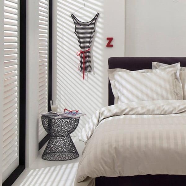Světle béžové bavlněné povlečení na jednolůžko Damai Linea Ivory, 200x140cm