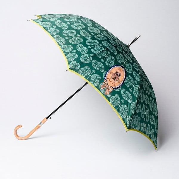 Deštník Alvarez Cashmere Green Illustration
