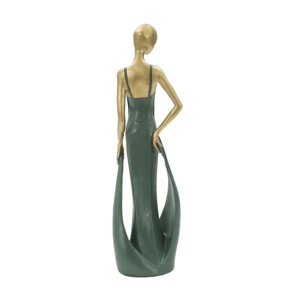 Statuetă decorativă din fier Mauro Ferretti Casino, verde smarald
