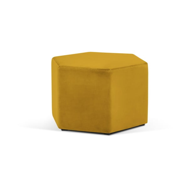 Marina sárga puff, ⌀ 60 cm - Milo Casa