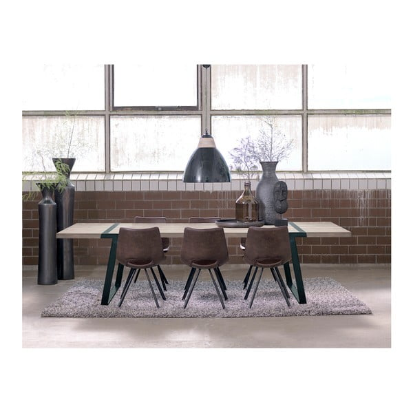 Světle hnědá jídelní židle s černým podnožím Canett Coronas