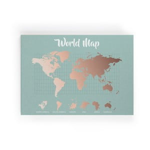 Obraz Really Nice Things Copper Worldmap, 50 x 70 cm