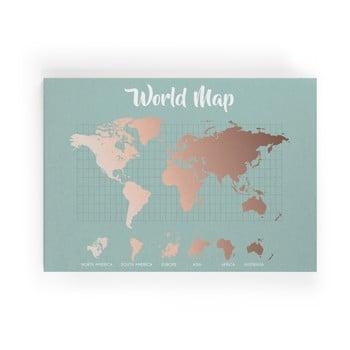 Tablou Really Nice Things Copper Worldmap, 50 x 70 cm poza