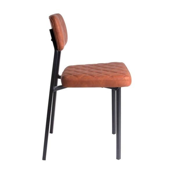 Koňakově hnědá židle Leitmotiv Retro