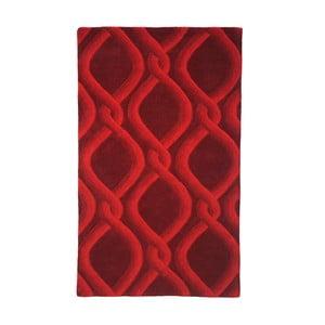 Ručně vyráběný koberec The Rug Republic Cable Red, 160 x 230 cm