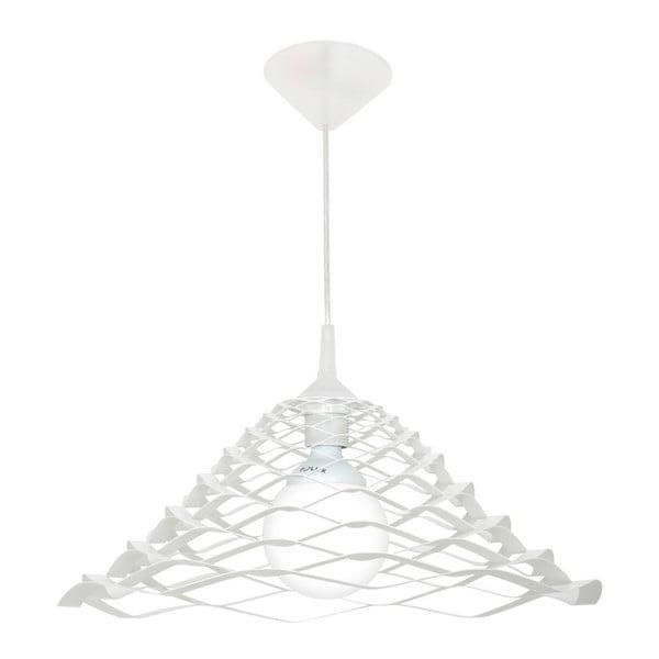 Bílé závěsné svítidlo Ara