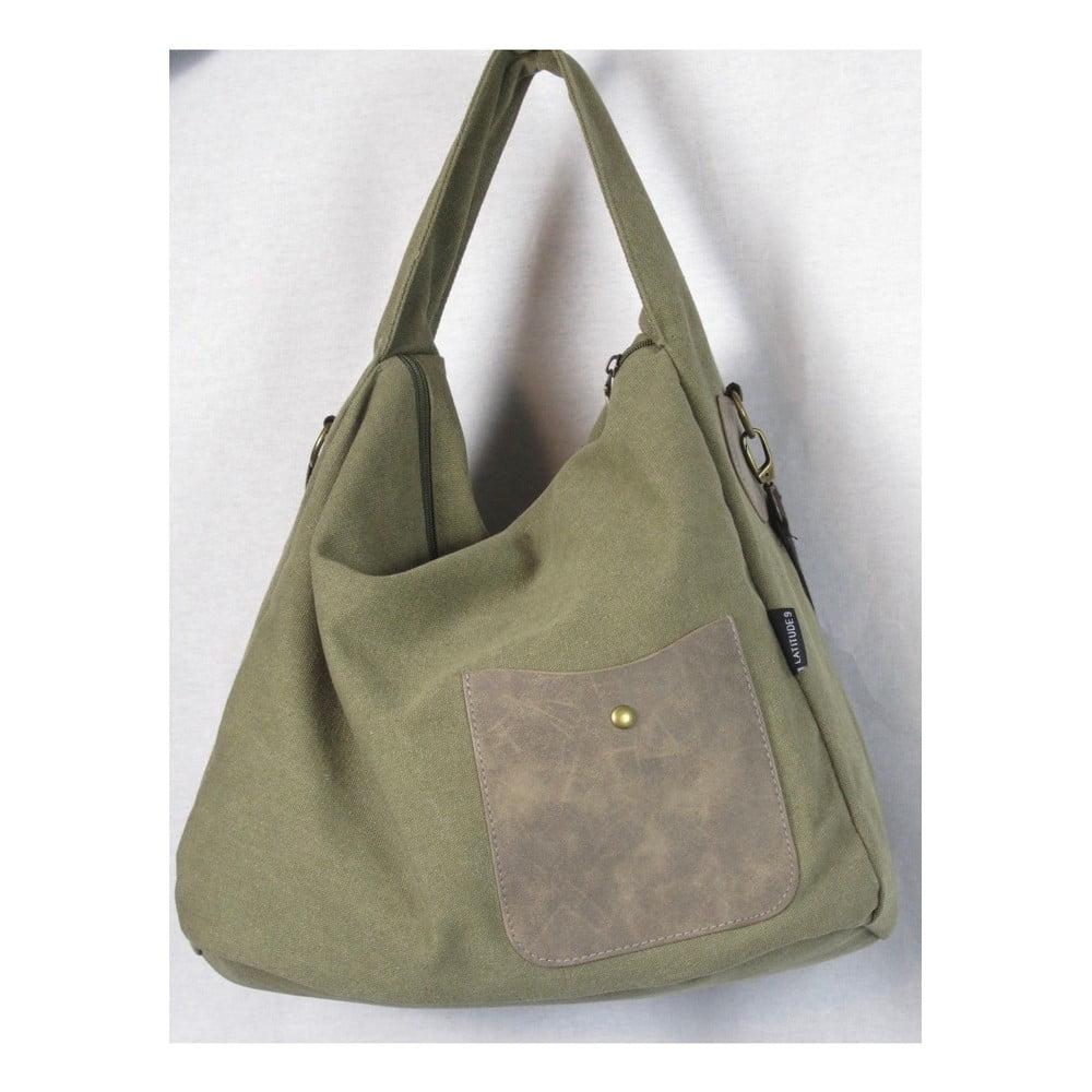 Khaki zelená plátěná taška Sorela Nadya
