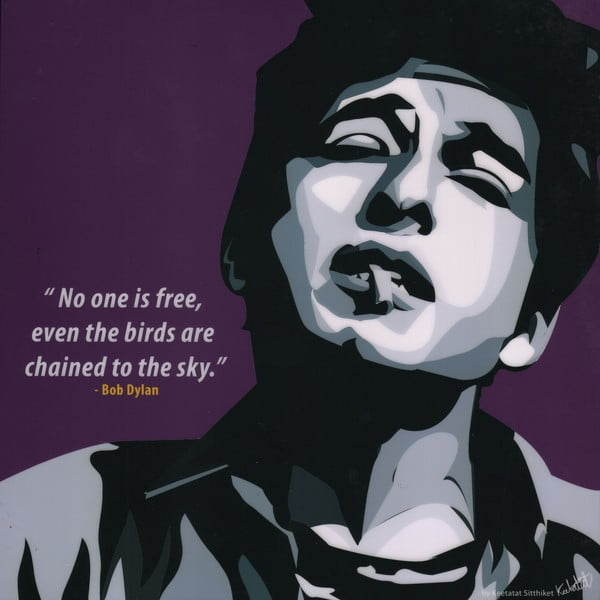 Obraz Bob Dylan- no one is free