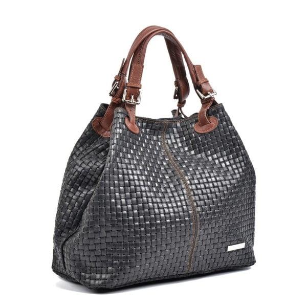 Černá kožená kabelka IsabellaRhea Matildo