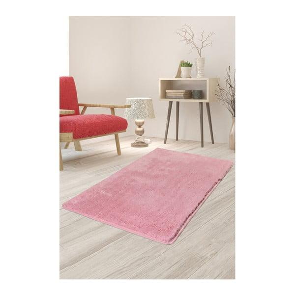 Jasnoróżowy dywan Milano, 140x80 cm