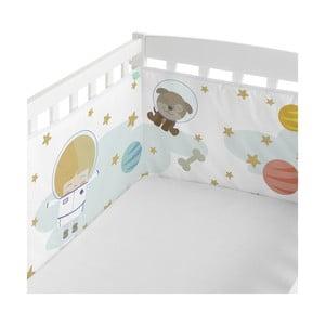 Textilní ohrádka do postýlky Happynois Astronaut, 210 x 40cm