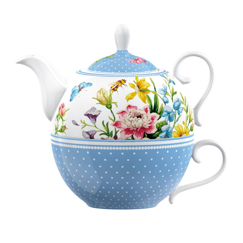 Porcelánový šálek s konvičkou Creative Tops English Garden