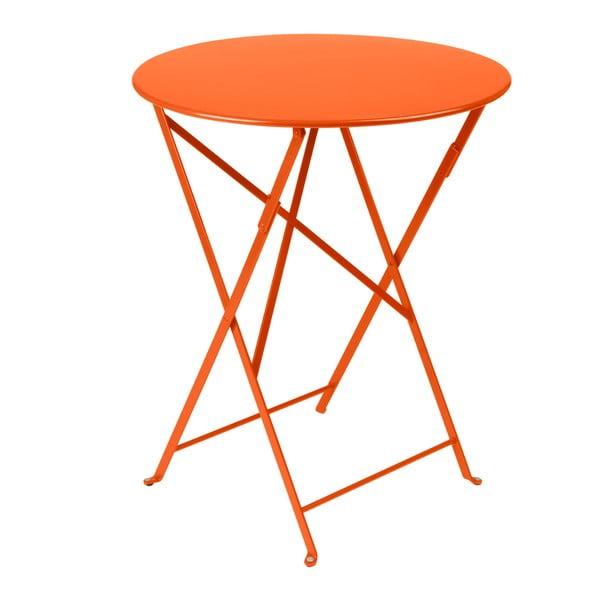 Oranžový skládací kovový stůl Fermob Bistro
