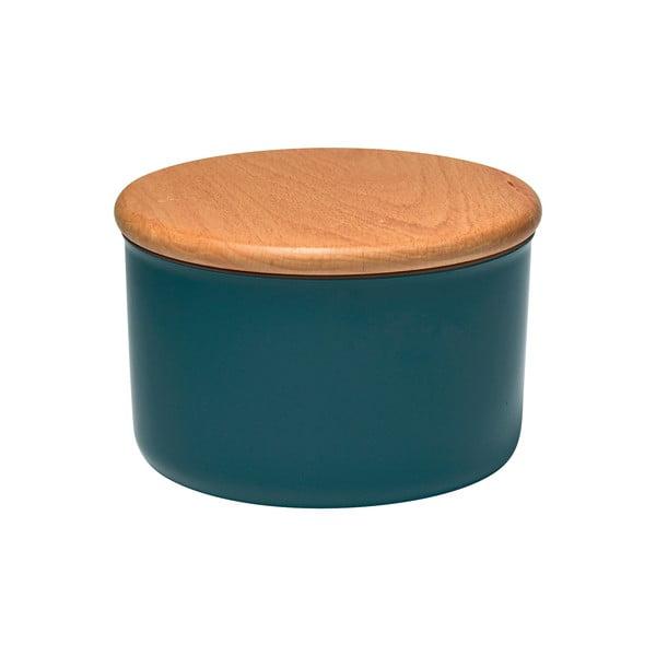 Recipient cu capac din lemn Emile Henry, 0,3 l, albastru închis