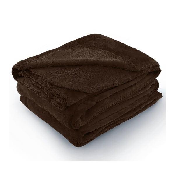 Hnedá deka z mikrovlákna AmeliaHome Tyler, 170 × 200 cm