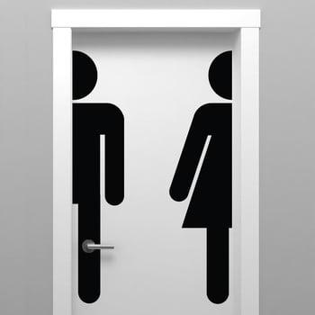 Autocolant Ambiance Bathroom Door