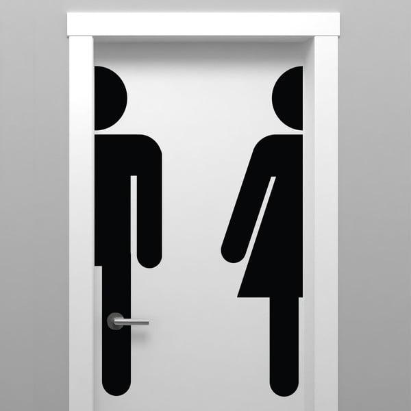 Naklejka Ambiance Bathroom Door