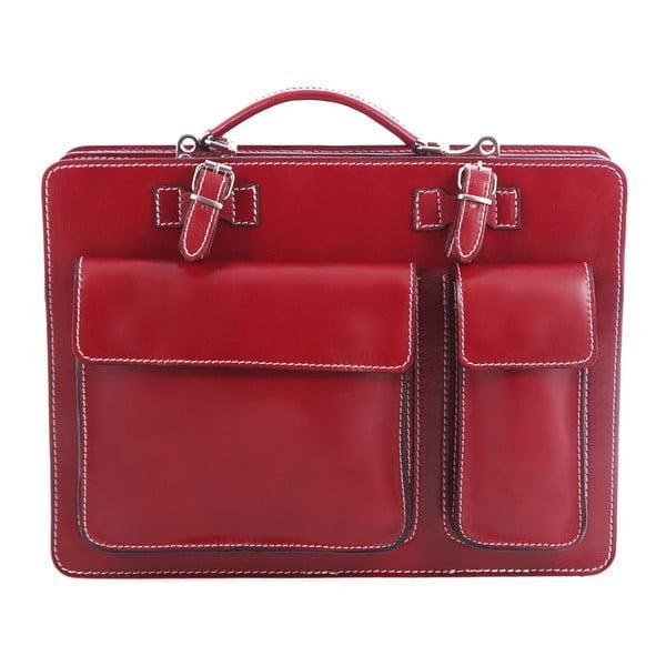Czerwona torba skórzana Chicca Borse Gaia