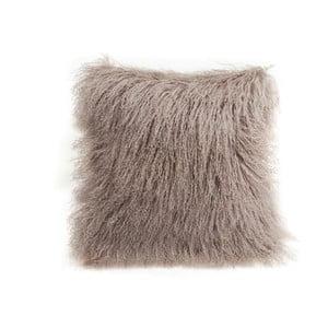 Béžový vlněný polštář z ovčí kožešiny Auskin Chua,35x35cm