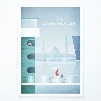 Poster Travelposter Copenhagen, A2 imagine