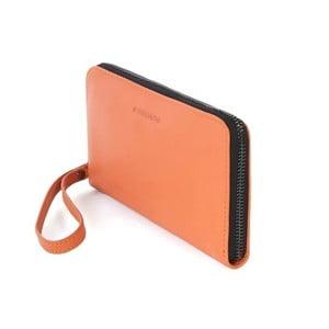 Oranžové psaníčko z italské kůže Tucano Sicuro