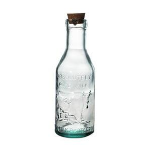Skleněná láhev z recyklovaného skla na mléko Ego Dekor Farma, 1litr