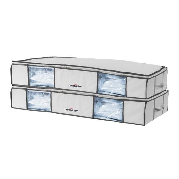 Set 2 cutii cu vid pentru depozitare sub pat Compactor XLarge, 105 x 15,5 cm