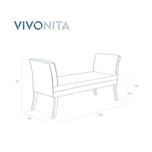 Světle béžová lavice Vivonita Selma
