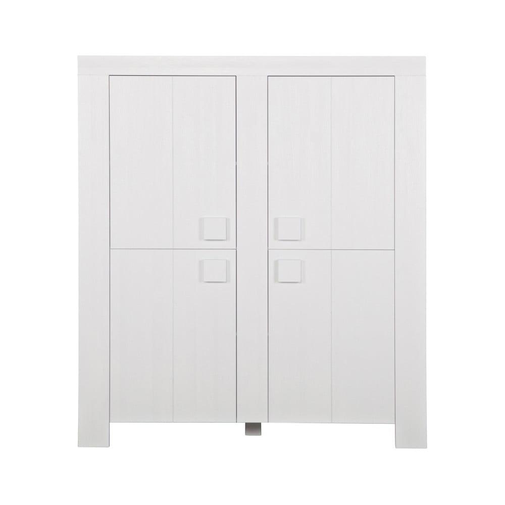 Bílá skříň z borovicového dřeva De Eekhoorn Dirk