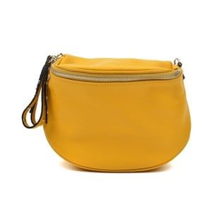 Žlutá kožená kabelka Anna Luchini Marhullo