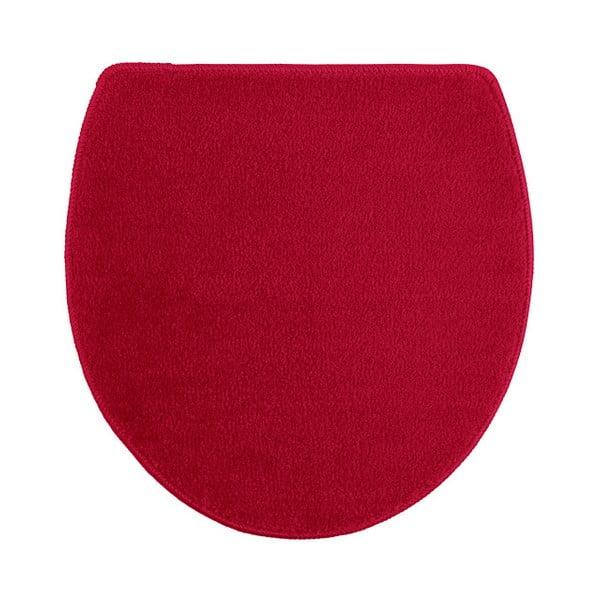 Sada 3 červených koupelnových předložek a toaletního potahu Confetti Ethnic Oyuklu,40x50cm