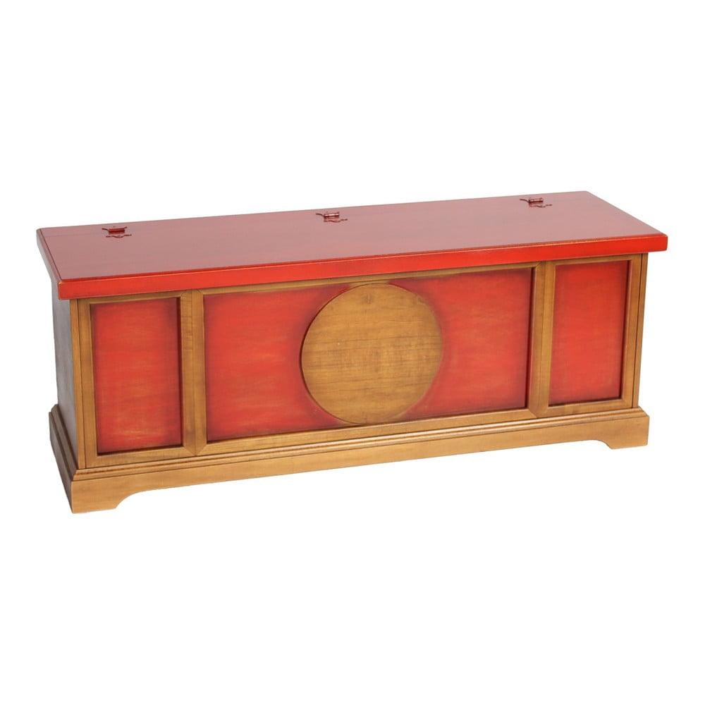 Červeno-hnědá komoda Evergreen House Orient