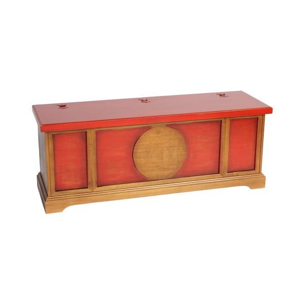 Comodă Evergreen House Orient, roșu - maro