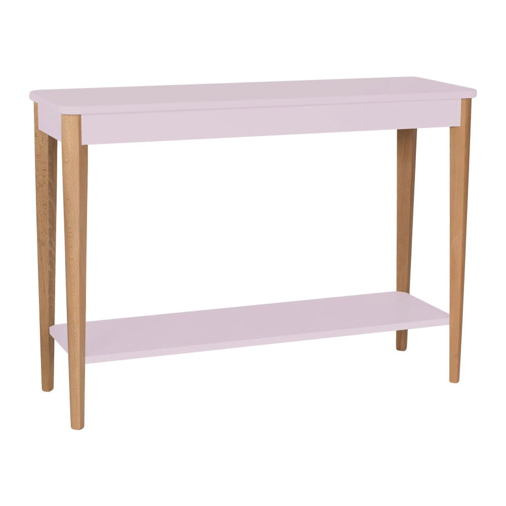 Světle růžový konzolový stolek Ragaba Ashme, šířka 105 cm