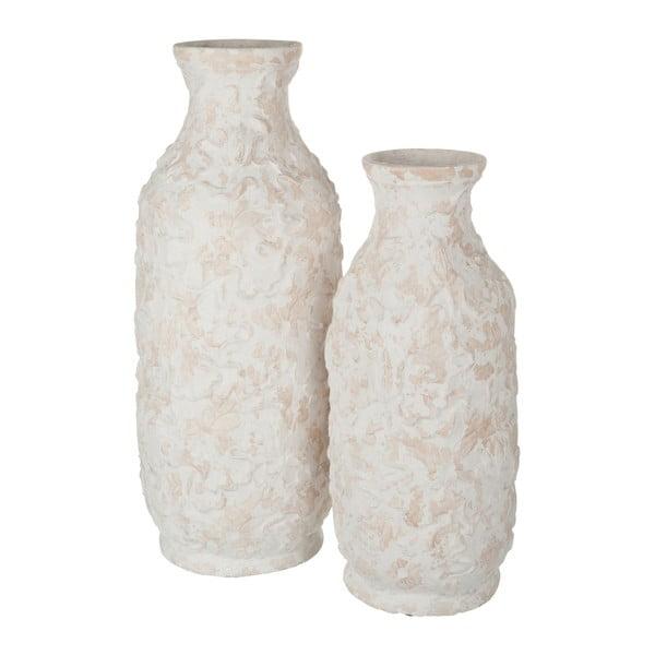 Bílá váza J-Line Terrac