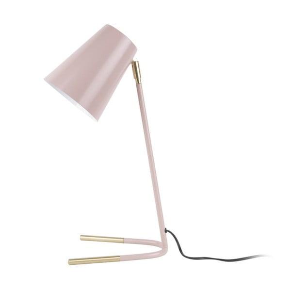 Ružová stolová lampa s detailmi v zlatej farbe Leitmotiv Noble