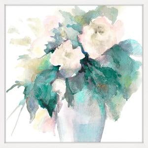 Obraz na plátně Marmont Hill Watery Flowers, 41 x 41 cm