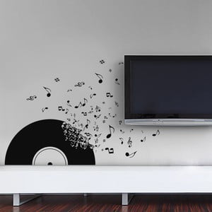 Samolepka na stěnu Vinylová deska, 70x50 cm