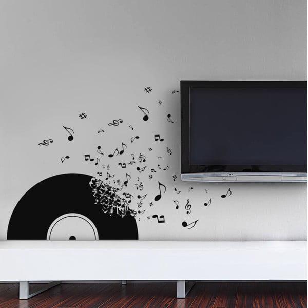 Dekorativní samolepka na zeď Vinylová deska