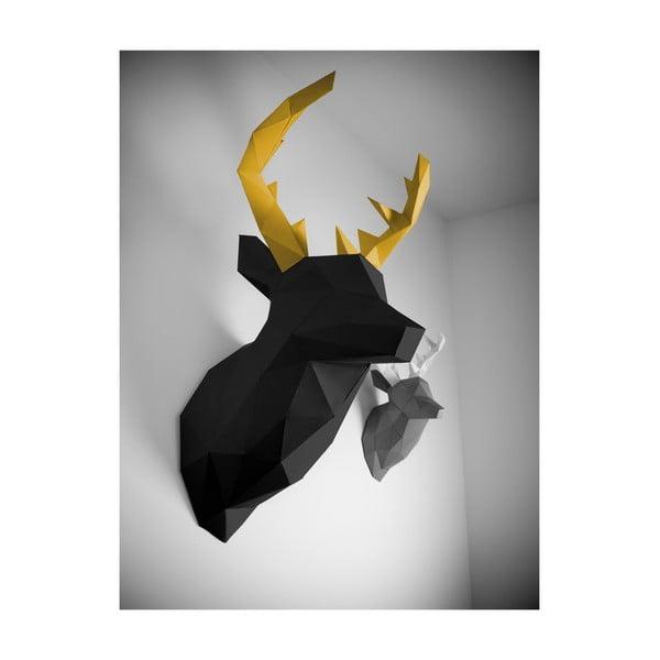 Papírová trofej Jelen XL, černo-zlatý