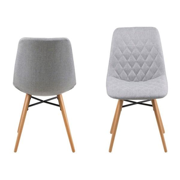 Sada 2 světle šedých jídelních židlí Actona Lif