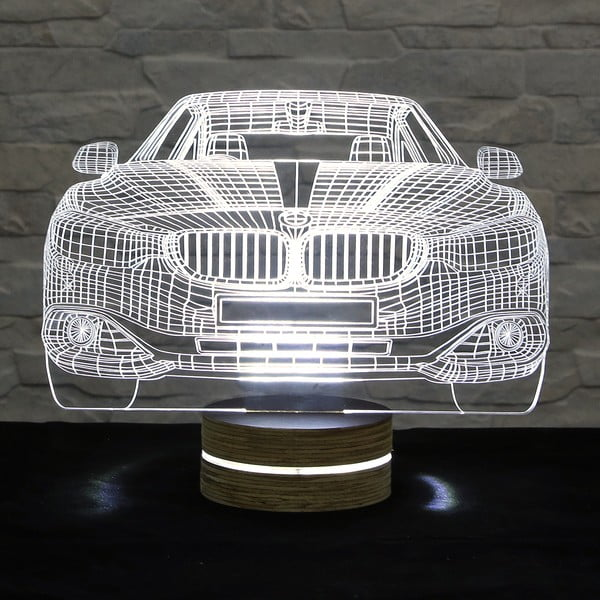 3D stolní lampa Cool Car