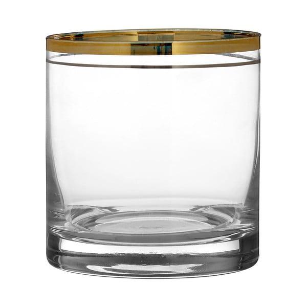 Sada 4 pohárov z ručne fúkaného skla Premier Housewares Charleston, 3,75 dl