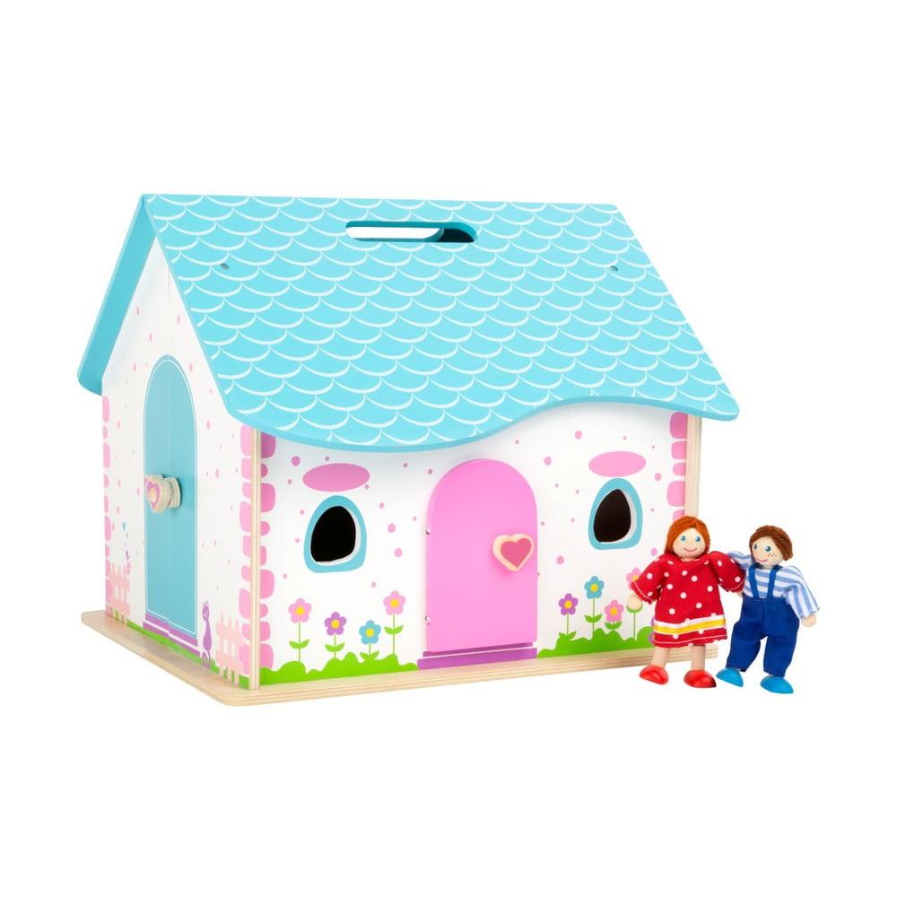 Dětský dřevěný skládací domeček Legler Doll
