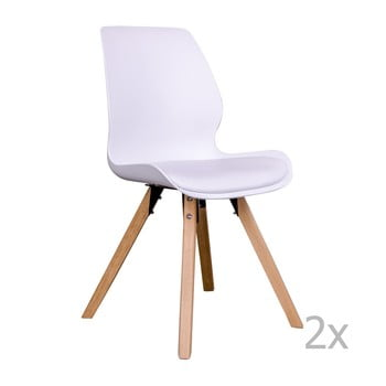 Set 2 scaune House Nordic Rana, alb de la House Nordic
