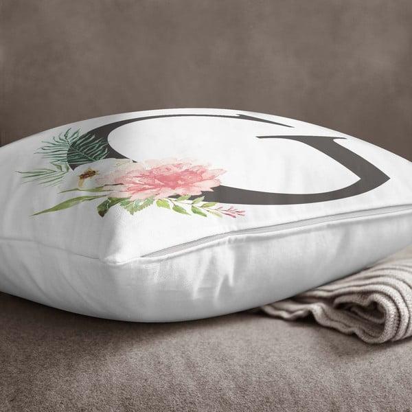 Față de pernă Minimalist Cushion Covers Floral Alphabet G, 45 x 45 cm