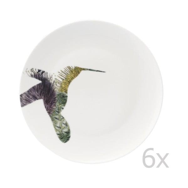 Sada 6 porcelánových talířů Flutter, 27 cm
