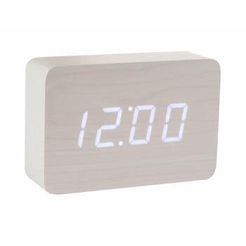 Ceas deșteptător cu LED BrickClickClock,alb