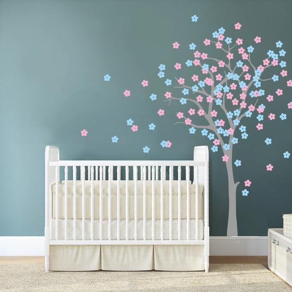 Samolepka na stěnu Květinový strom, 2 archy, 70x50 cm